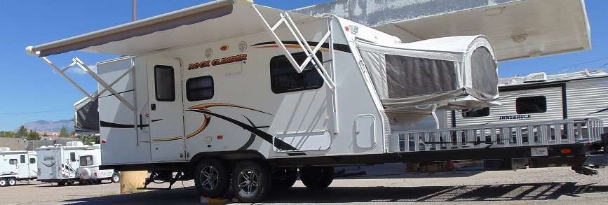 Travel Trailer - Toy Hauler - Hybrid - NonSlide Coyote Rock Climber
