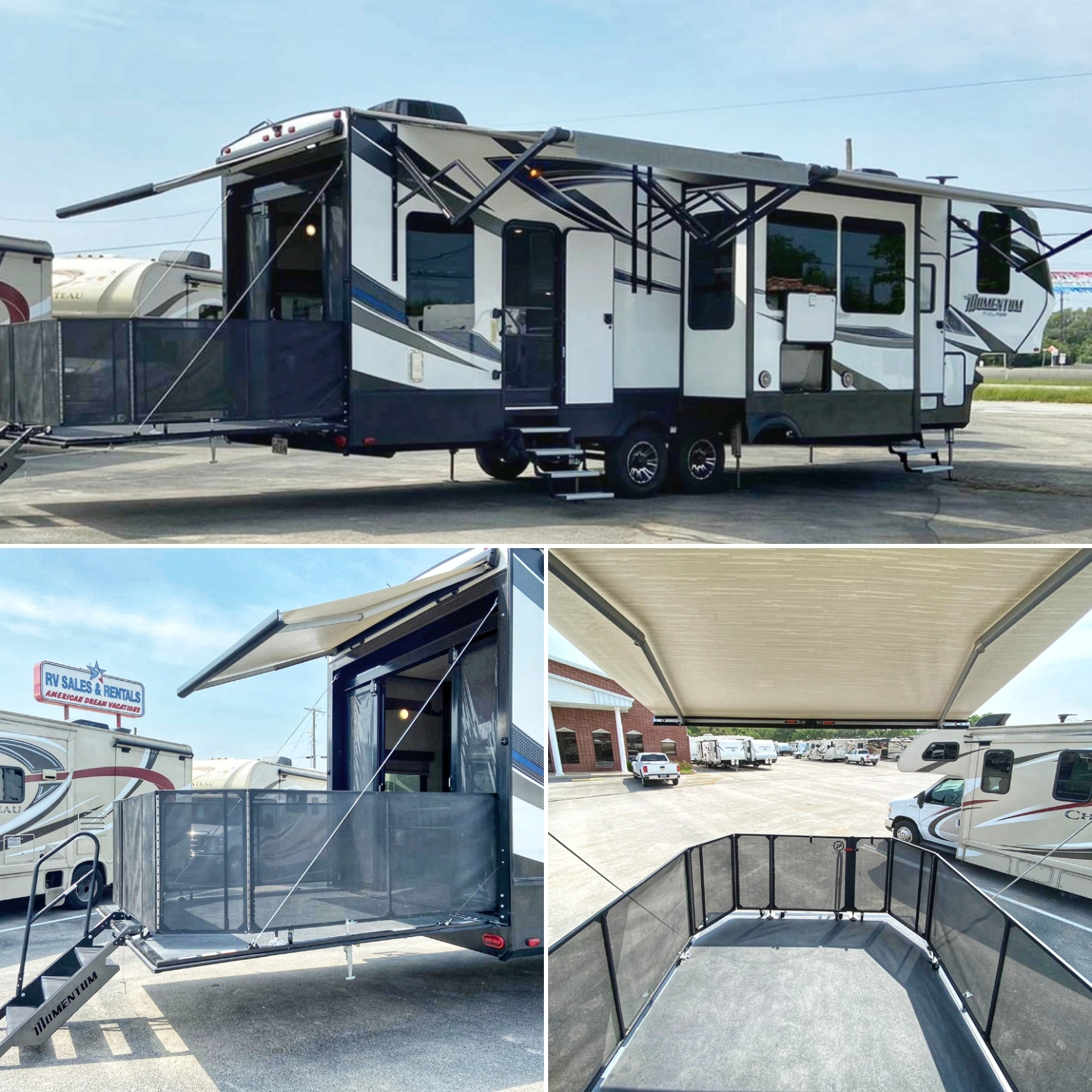 5th Wheel - 3 Slide Outs Momentum 349M Toyhauler